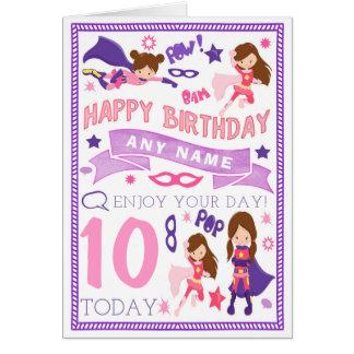 Cartão de aniversário personalizado super-herói