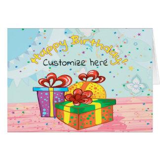 cartão de aniversário Personalizar-capaz com