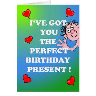 Cartão de aniversário picante