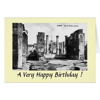Cartão de aniversário - Pompeia