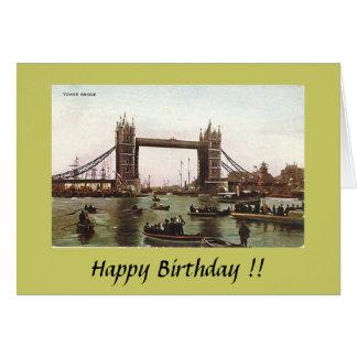 Cartão de aniversário - ponte da torre, Londres