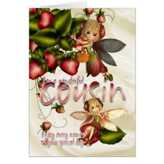 Cartão de aniversário - primo - fadas da torta de