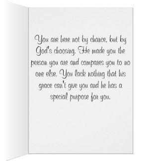 Cartão de aniversário religioso