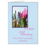 Cartão de aniversário religioso cristão -- Flor do
