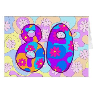Cartão de aniversário retro do 80