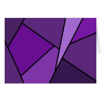 Cartão de aniversário roxo abstrato dos polígono