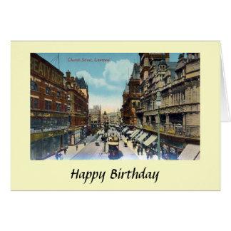 Cartão de aniversário - rua da igreja, Liverpool