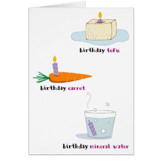 Cartão de aniversário saudável da comida