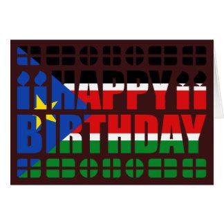 Cartão de aniversário sul da bandeira de Sudão