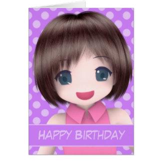 Cartão de aniversário super do Anime