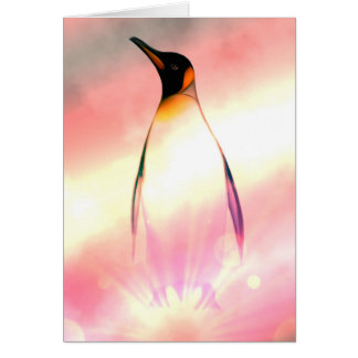 Cartão de aniversário super do pinguim
