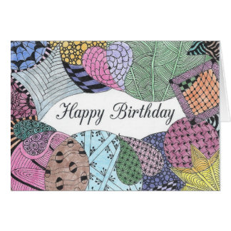 Cartão de aniversário Tangled da arte