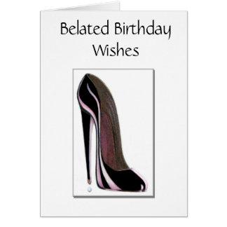 Cartão de aniversário tardivo
