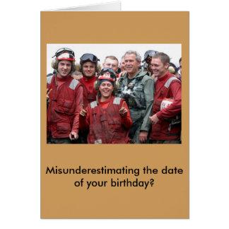 Cartão de aniversário tardivo de George Bush