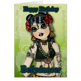 Cartão de aniversário tribal da dança do ventre