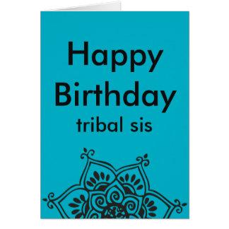 Cartão de aniversário tribal da dança do ventre do cartão comemorativo