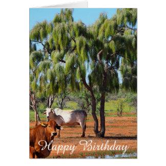 Cartão de aniversário vazio - árvores de Waddi