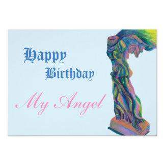 Cartão de aniversário voado da vitória
