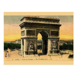 Cartão de Arco do Triunfo do vintage