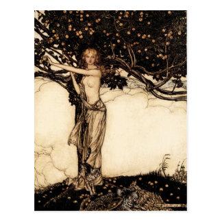 Cartão de Arthur Rackham Freya CC0329