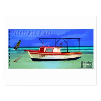 Cartão de Aruba da cabana do pescador