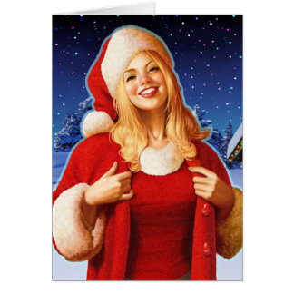 """Cartão De """"ascendente próximo da noite Natal"""""""