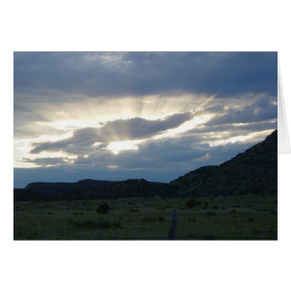 Cartão de ascensão dos raios de sol