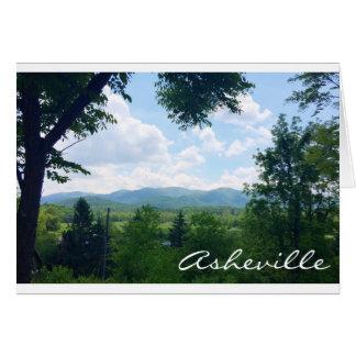 Cartão de Asheville, North Carolina