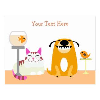 Cartão de assento do negócio do animal de