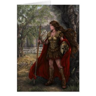 Cartão de Athena da deusa pelo arqueiro de Lindsay