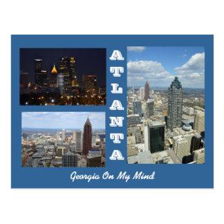 Cartão de Atlanta, arquitectura da cidade de