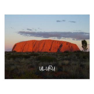 Cartão de Austrália da rocha de Ayers do por do