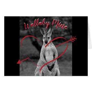 Cartão Cartão de Austrália do dia dos namorados do