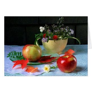 """Cartão De """"bacia LuRay & maçãs amarelas"""" FARMphemera"""