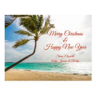 Cartão de balanço do Feliz Natal das palmeiras