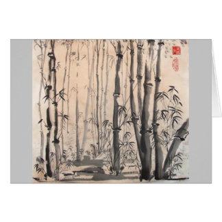 Cartão de bambu obscuro da floresta
