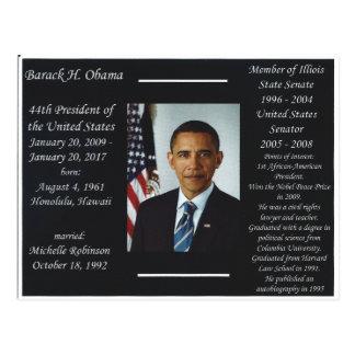 Cartão de Barack Obama