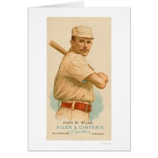 Cartão de basebol 1887 da divisão de John