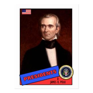 Cartão de basebol de James K. Polk
