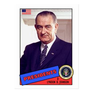 Cartão de basebol de Lyndon B. Johnson