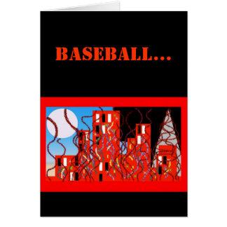 Cartão de basebol preto & alaranjado legal do fã