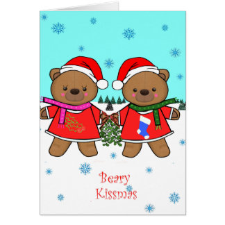 Cartão de Beary Kissmas