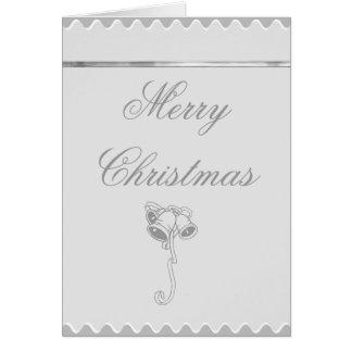 Cartão de Bels de prata do Feliz Natal