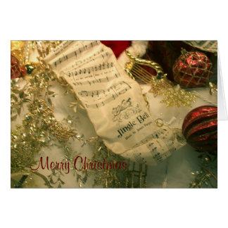 Cartão de Bels do Música-Tinir da folha do Natal