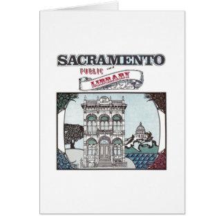 Cartão de biblioteca pública de Sacramento