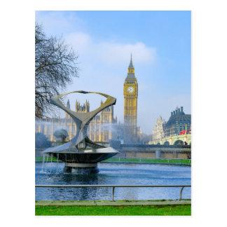 Cartão de Big Ben Londres Westminster Reino Unido