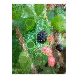 Cartão de Blackberry do verão do pop art