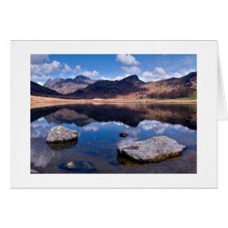 Cartão de Blea Tarn - o distrito do lago