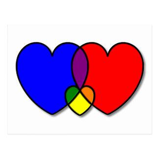 Cartão de bloqueio de três corações
