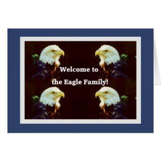 Cartão Dê boas-vindas a Eagle à família